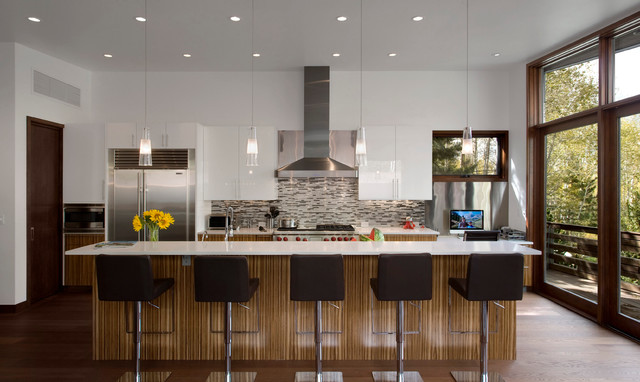 wrap house contemporary kitchen