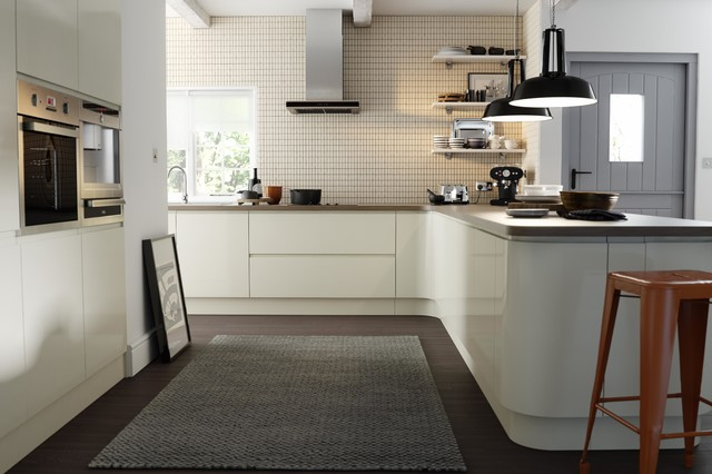 Wren Kitchens Handleless Cream Gloss