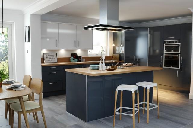 wren kitchens - pacrylic graphite