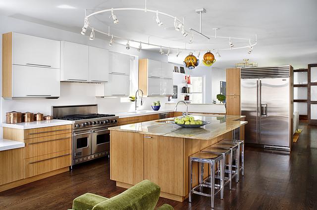 Wrigleyville Residence Midcentury Kitchen Chicago