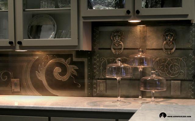 Wrought Iron Kitchen Backsplash