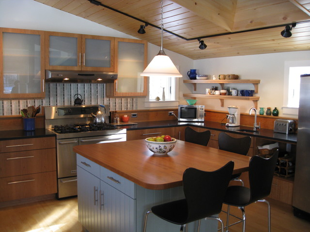 Yarmouth Village House Contemporary Kitchen Portland Maine By Victor Trodella