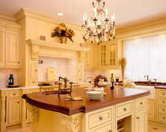 Yellow Country Elegance traditional kitchen