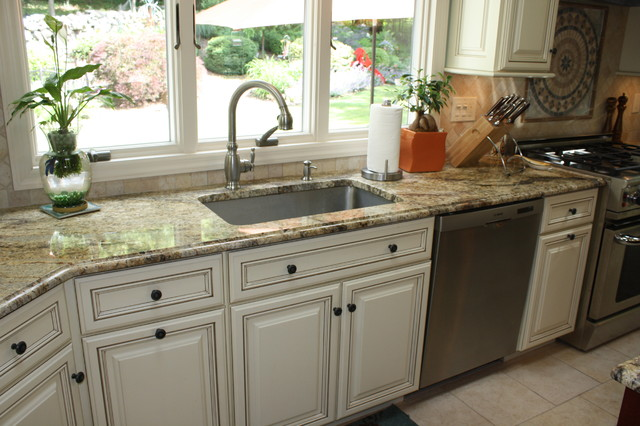 Yellow river granite counter tops - Traditional - Kitchen ...