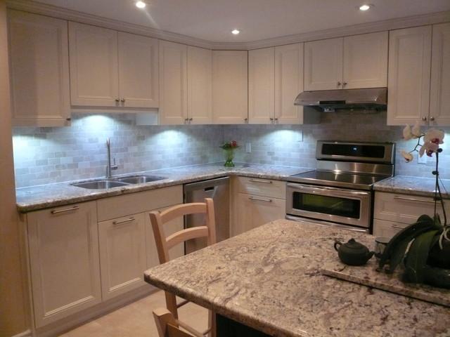 Yonge & Finch Condominium traditional-kitchen