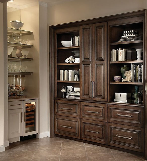 Yorktowne Dark Wood Cabinets Transitional Kitchen Other Metro By Ultimate Designs