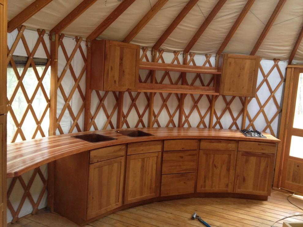 Yurt Rustic Kitchen Phoenix By Ajh Construction Inc Houzz