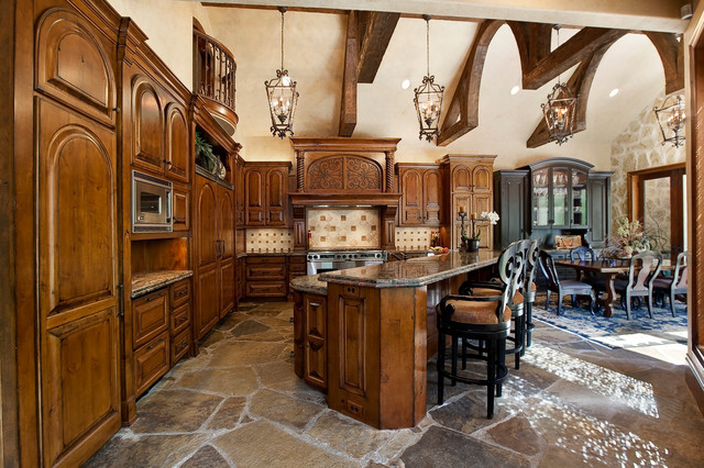 Zachary Custom Homes Past Projects mediterranean-kitchen