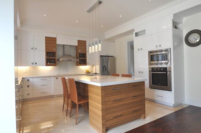 Zebrano Kitchen Cabinets