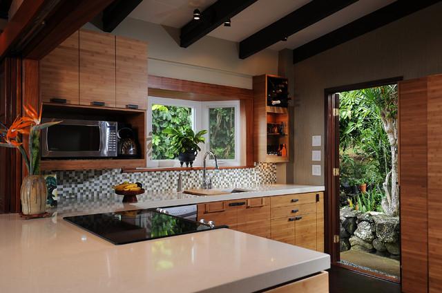 Zen Kitchen Island Style Exotique Cuisine Other Metro Par Mcyia Interior Architecture