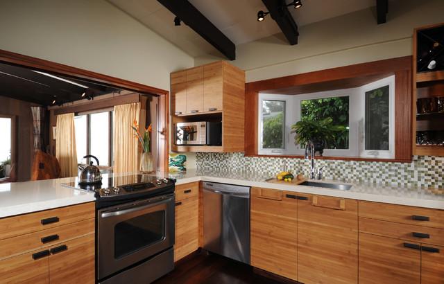 zen kitchen island style kolonialstil k che hawaii. Black Bedroom Furniture Sets. Home Design Ideas