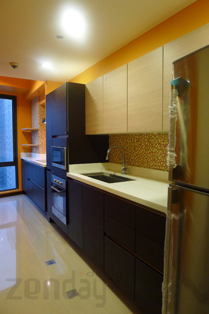 Zenday design modern kitchen in eastwood city for Modern kitchen design philippines