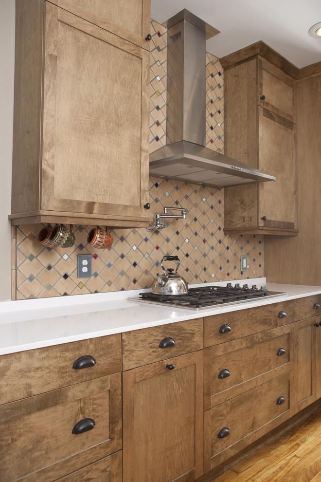 Zig Zag Pattern Mosaic Kitchen Backsplash Contemporary Kitchen Minneapolis By Clay Squared To Infinity Houzz