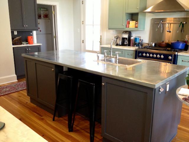 Zinc Countertopsmodern Kitchen Baltimore