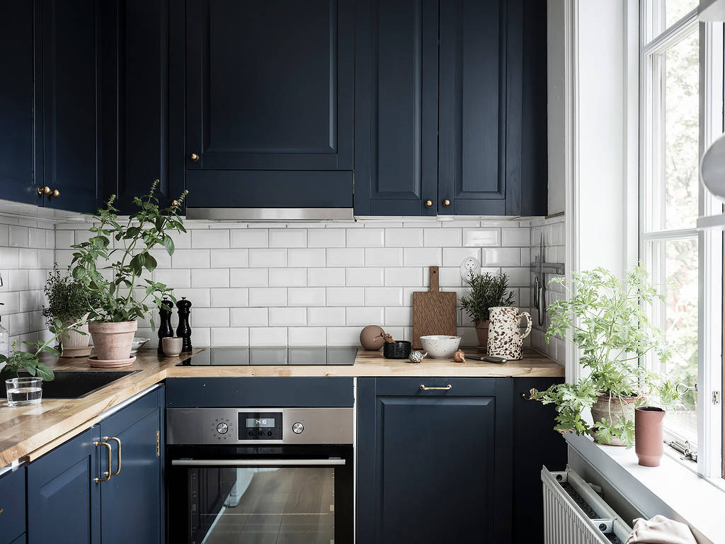 9 Beautiful Small Kitchen with Blue Cabinets Pictures & Ideas ...