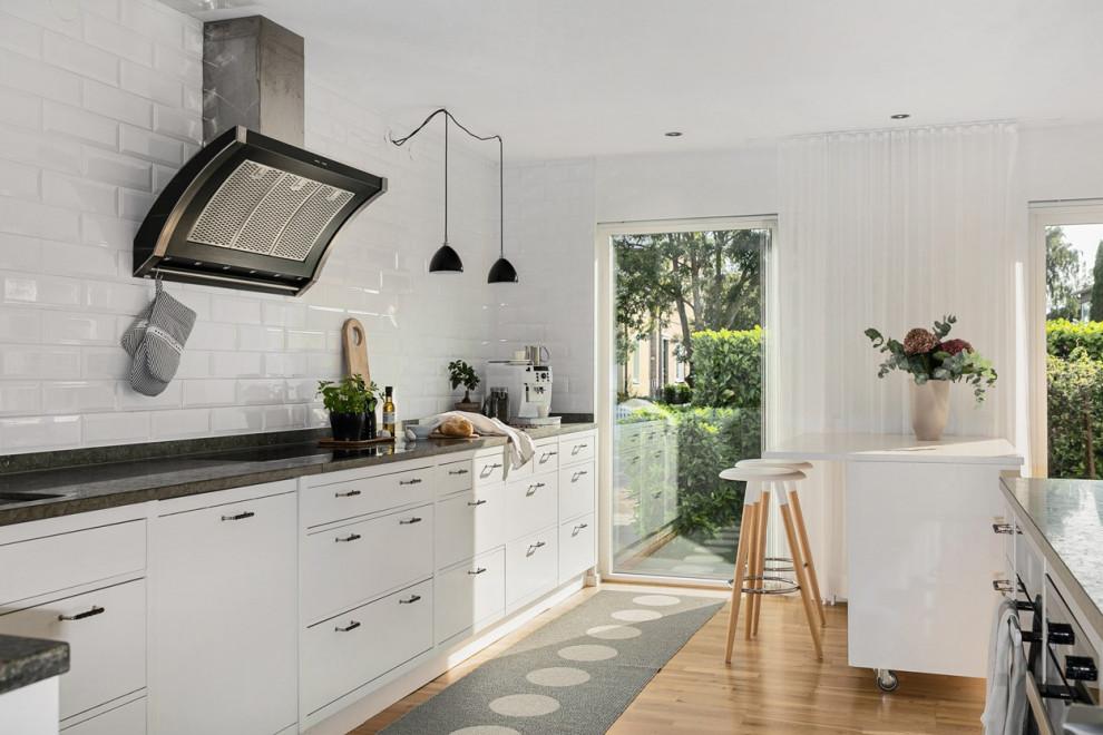 Bild på ett minimalistiskt kök