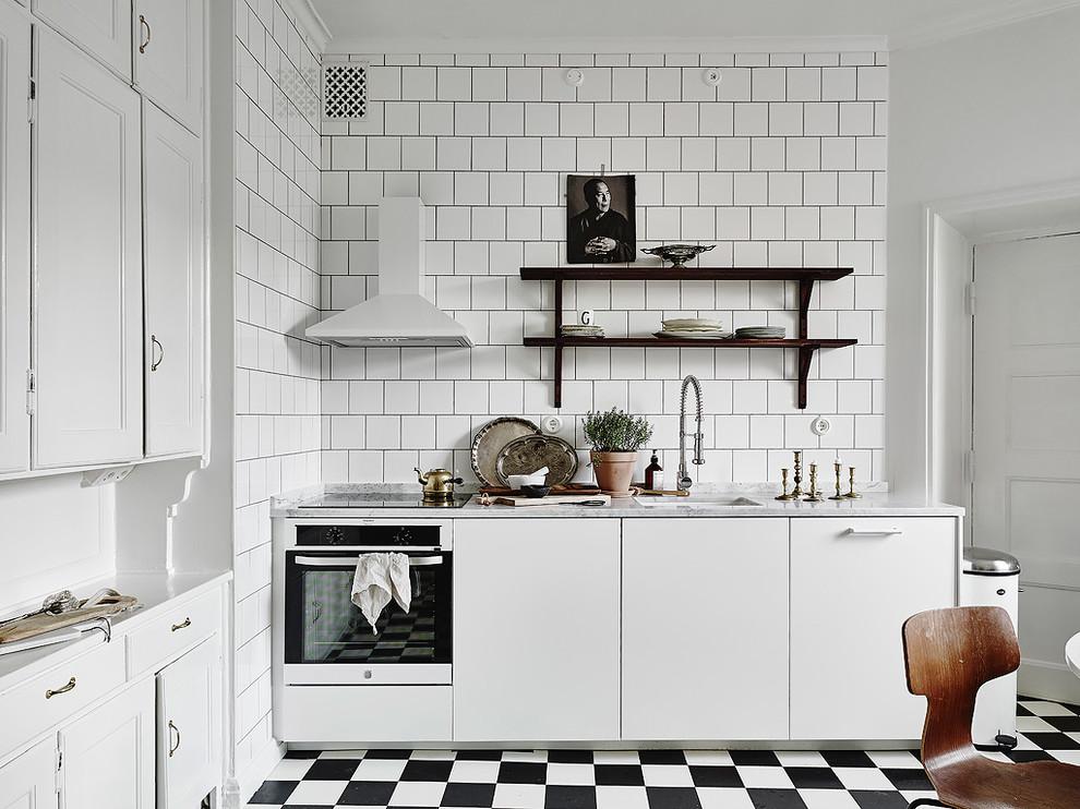 Transitional kitchen photo in Gothenburg