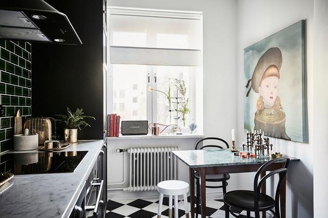 Renovering av övernattningslägenhet i Göteborg eclectico-cocina