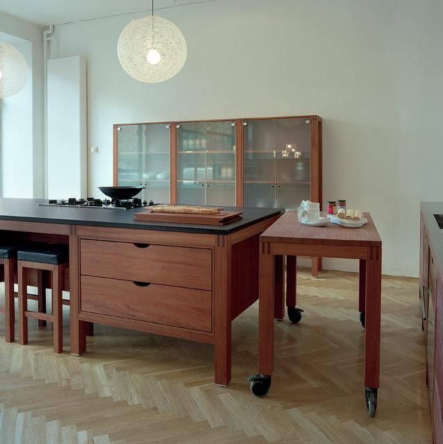 Hansen Køkken i mahogni København - Scandinavian - Kitchen ...