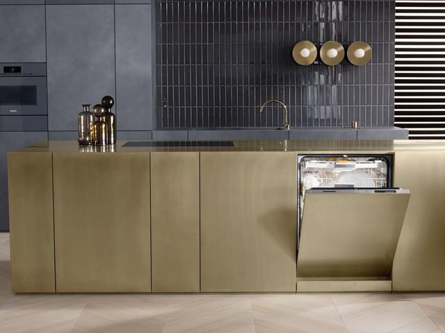 Miele opvaskemaskine Knock2Open - grebsfri - Moderne - Køkken ...