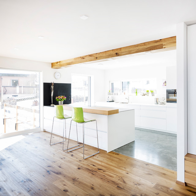 wohnraumgestaltung, ac009 - white & wood_ küche und wohnraumgestaltung, Design ideen