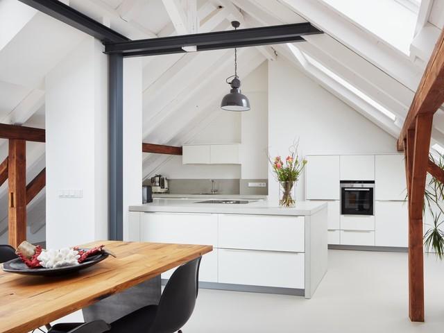 Ausbau einer Dachgeschosswohnung zur Maisonette - Modern ...