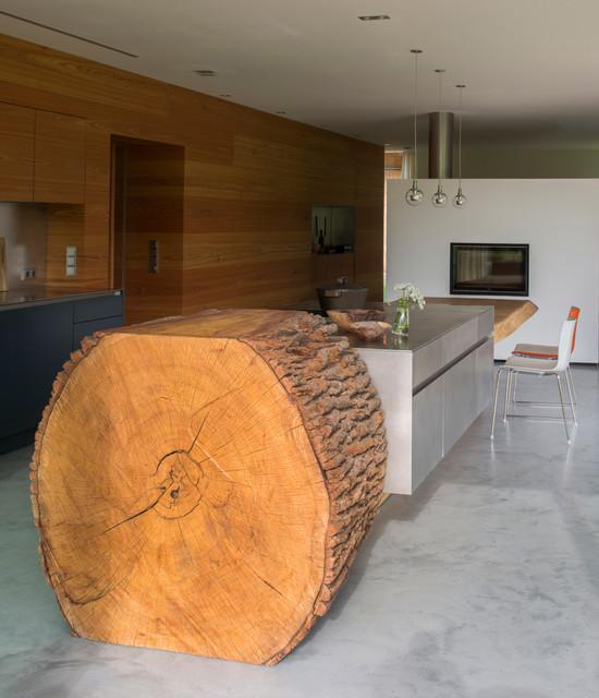 Baumstammkuche modern kuche munchen von werkhaus for Küchenbau münchen