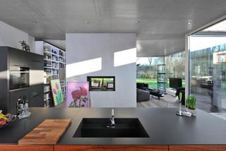 das atriumhaus modern k che hamburg von. Black Bedroom Furniture Sets. Home Design Ideas