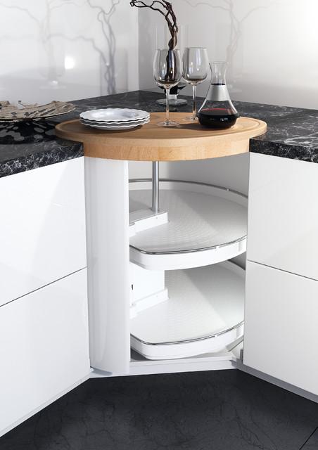 der kücheneckschrank - ein topfkarussell als modernes