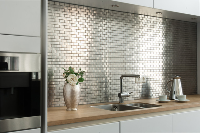 Fabulous Edelstahlmosaik Mosaikfliesen - Modern - Küche - Hamburg - von Mosafil VS86