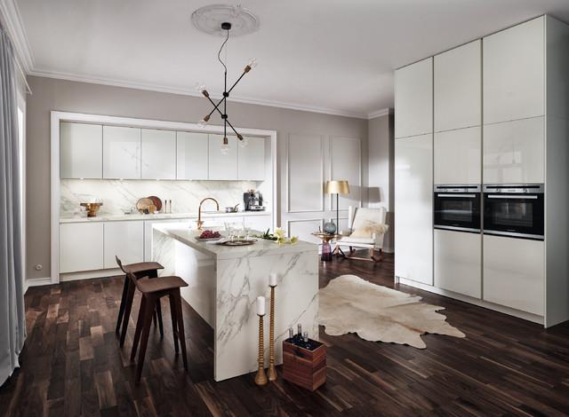 AuBergewohnlich Edle Designerküche In Marmor Optik Contemporary Kitchen