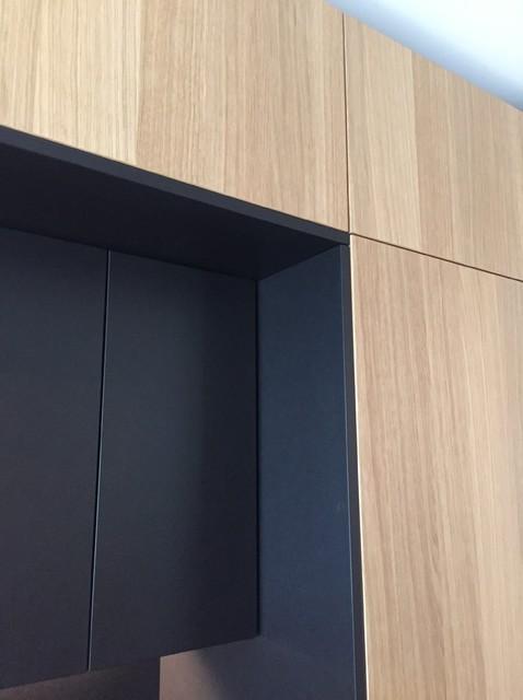 Schwarzes Mdf eiche und schwarzes mdf für ikea metod contemporary kitchen
