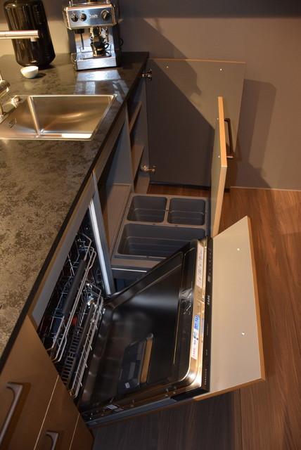 Einbauküche Gold U Form Küche Nappa Nolte Inselküche - Modern ...