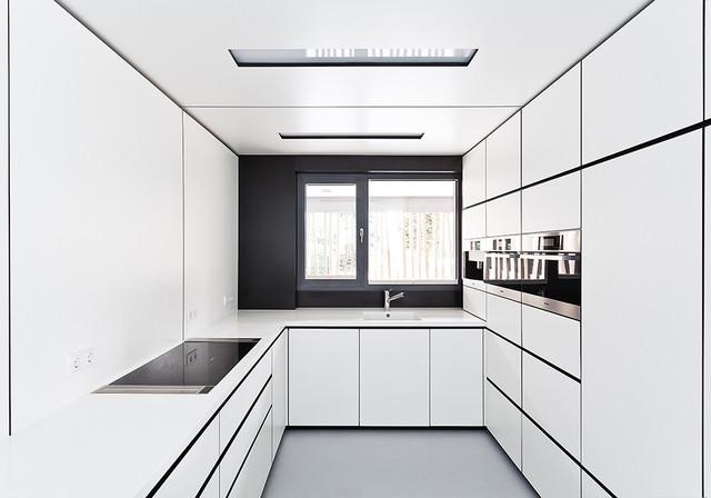 Einfamilienhaus architektur in dresden modern kitchen for Einfamilienhaus architektur modern
