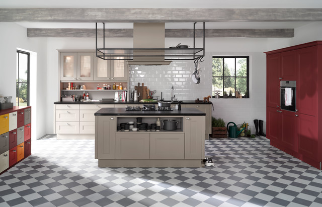 farbe f r das leben in der k che industrial k che. Black Bedroom Furniture Sets. Home Design Ideas