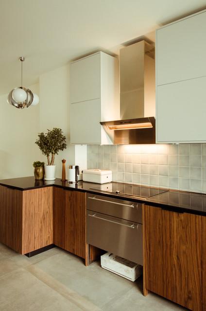 fronten in nu baum und grau f r ikea metod modern. Black Bedroom Furniture Sets. Home Design Ideas