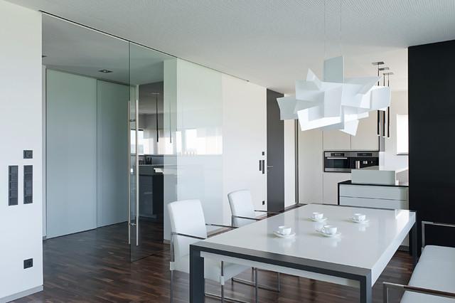 gro es glaselement raumhohe t r wohnbereich minimalistisch wohnbereich stuttgart von. Black Bedroom Furniture Sets. Home Design Ideas