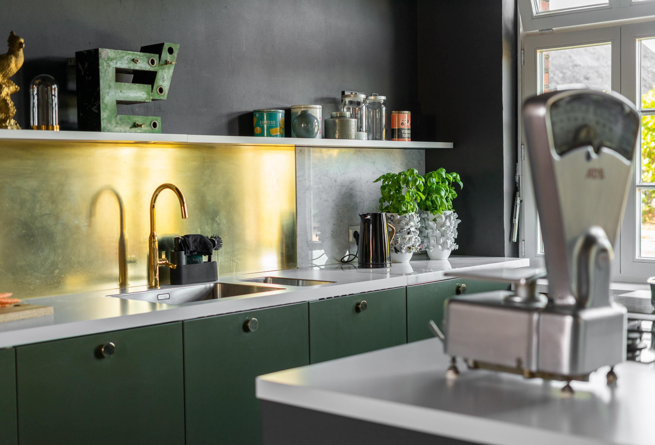 75 Beautiful Industrial Black Floor Kitchen Pictures Ideas Houzz