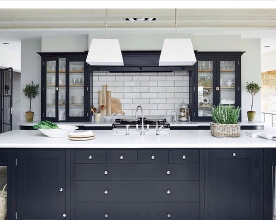 60 Farmhouse Kitchen Design Photos with Black Cabinets