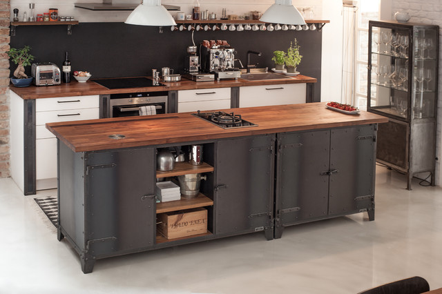 industrial kitchen industrial k che sonstige von. Black Bedroom Furniture Sets. Home Design Ideas