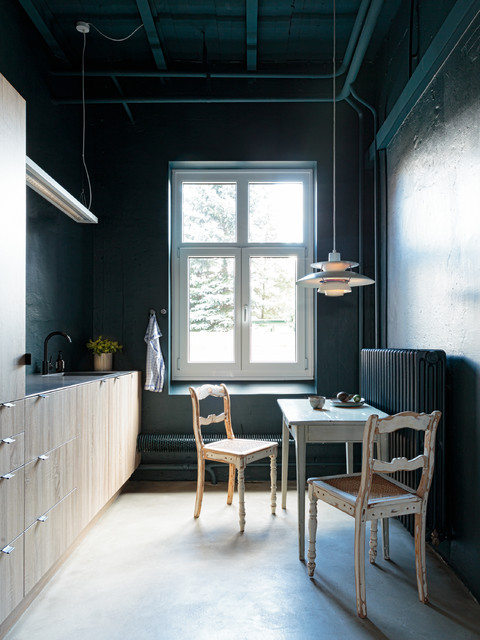 eintauchen in die pause eine blaugr ne k che in kiel. Black Bedroom Furniture Sets. Home Design Ideas
