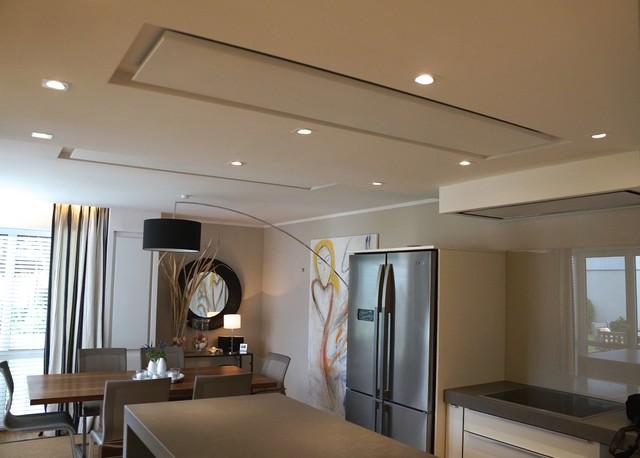 infrarotheizung deckenmontage in rigips modern k che. Black Bedroom Furniture Sets. Home Design Ideas