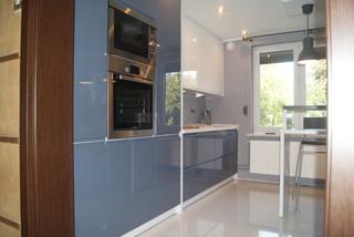 kleine einbauk che in zwei farben. Black Bedroom Furniture Sets. Home Design Ideas