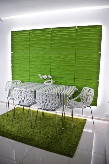 kreaative Wandgestaltung - 3D Wandpaneele aus Gips - Modern ...