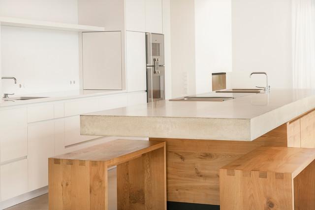 k che beton eiche w modern k che m nchen von wiedemann werkst tten. Black Bedroom Furniture Sets. Home Design Ideas