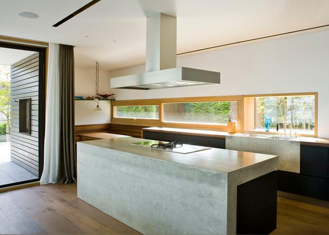 Küche beton modern kueche