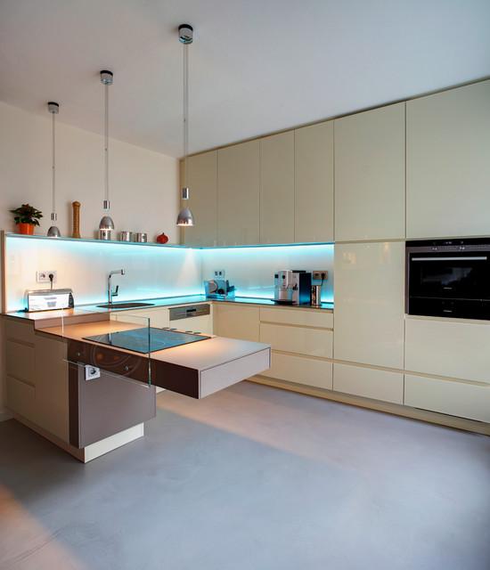 k che dortmund privat modern k che dortmund von raumgesp r innenarchitektur design. Black Bedroom Furniture Sets. Home Design Ideas