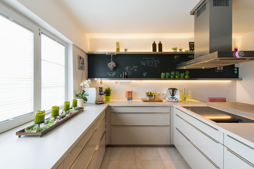 Küche für einen Hochflächendesigner