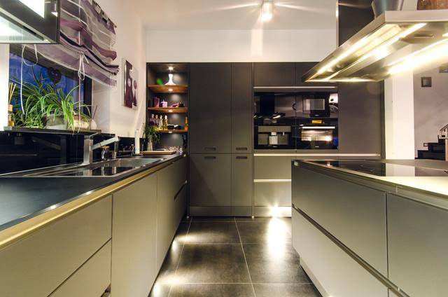 Küche Schwarz Matt Contemporary Kitchen