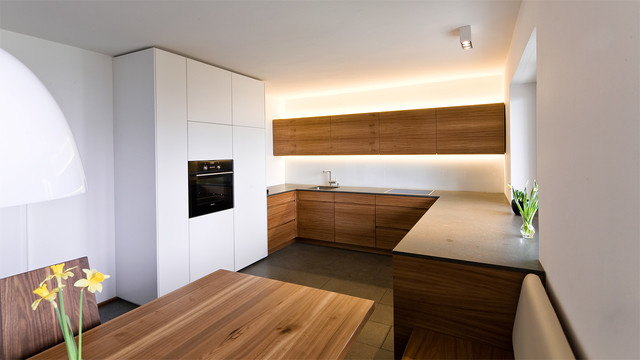 k che und esszimmer in r ster contemporary kitchen other metro by held interior design. Black Bedroom Furniture Sets. Home Design Ideas